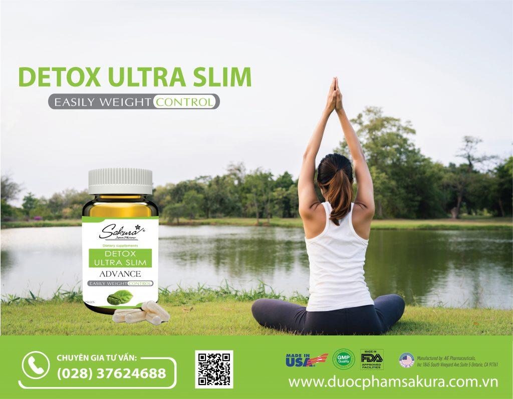 Sakura Detox Ultra Slim hiệu quả vượt trội khi kết hợp chế độ luyện tập khoa học