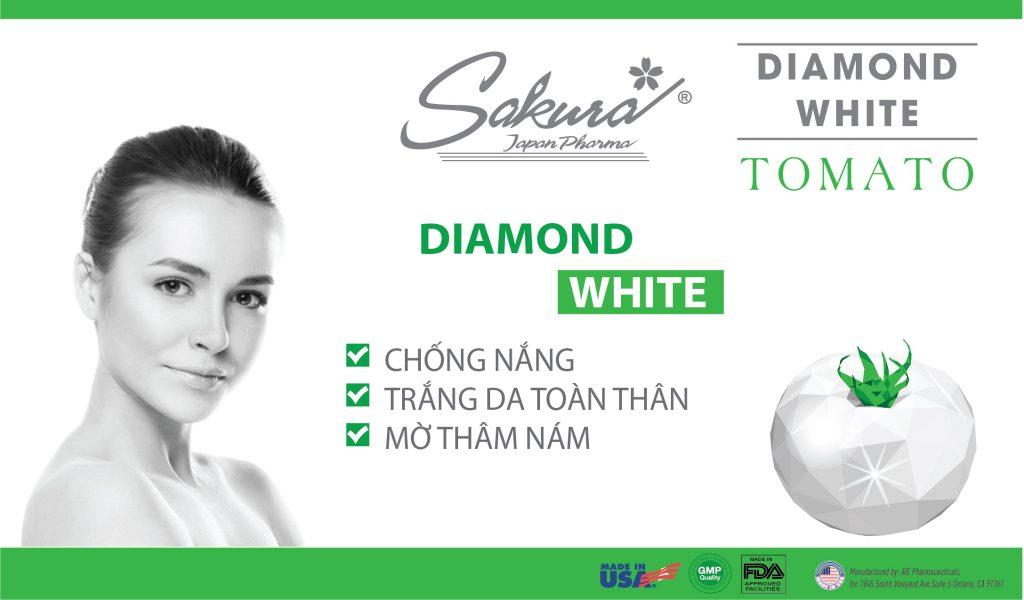 Sakura Diamond White Tomato - Chống nắng, trắng da toàn thân