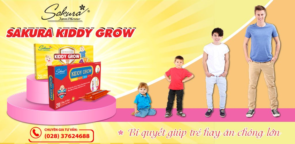 Sakura Kiddy Grow - Bí quyết giúp trẻ hay ăn chóng lớn