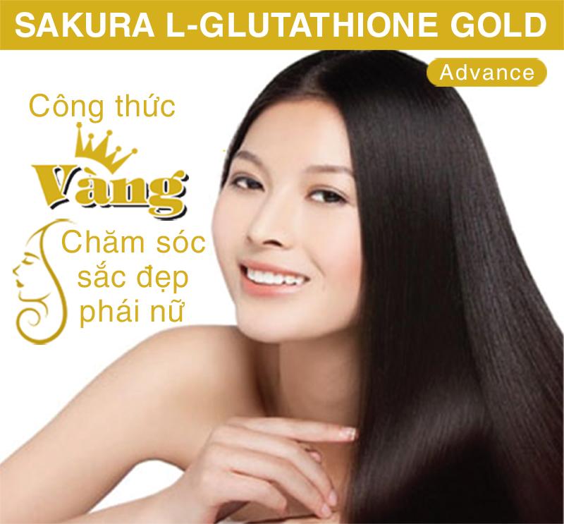 Sakura L-Glutathione Gold Advance - Công thức vàng chăm sóc sắc đẹp phái nữ