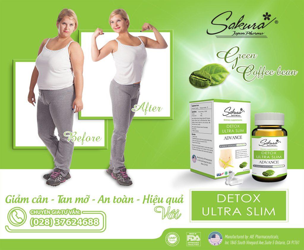 Giảm cân hiệu quả với Sakura Detox Ultra Slim