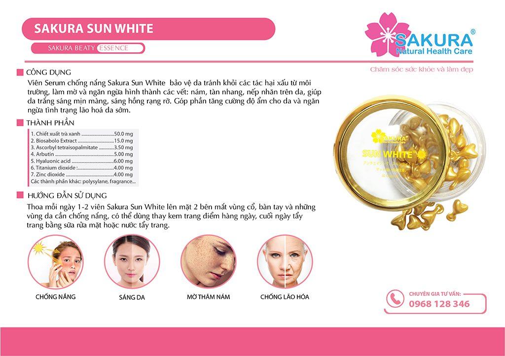 Mô tả sản phẩm Sakura Sun White