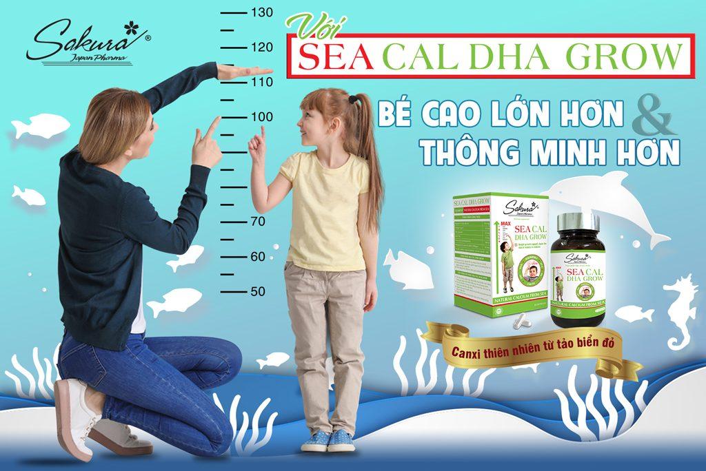 Sakura Sea Cal DHA Grow - Cho bé cao lớn hơn & thông minh hơn