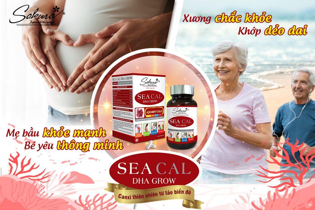 Mẹ bầu an tâm, ông bà an nhiên với Sakura Sea Cal DHA Grow