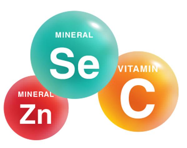 Vitamin C, Kẽm, Selen